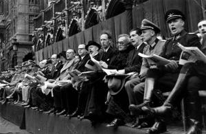 La Fête du chant national flamand à sa grande époque, en 1941. Photo CEGESOMA (que la N-VA aimerait faire fermer).