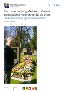 « ressourcer le nationalisme flamand à la source », écrit Gerolf Annemans. La source ?Un nazi condamné.