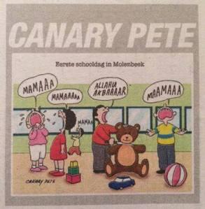 Le dessin de Canary Pete dans Het Belang Van Limburg. Les années trente de