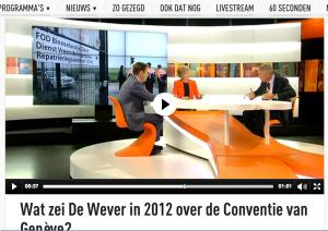 Convention de Genève. La VRT a vite relevé le lièvre…